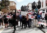 Fotos de la concentración en la Rochapea con motivo del asesinato de George Floyd en Minneapolis