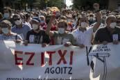 Manifestación contra el cierre de la planta de Gamesa en Aoiz