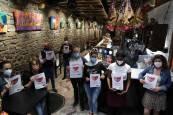 Protesta de bares del Casco Antiguo de Pamplona ante la crisis de coronavirus