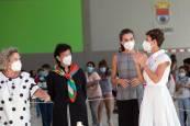Fotos de la apertura de curso escolar de la reina Letizia en Milagro y San Adrián