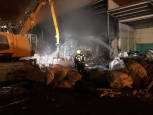 Fotos del incendio en la empresa Servicios Ecológicos de Navarra