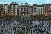 Fotos de la manifestación en Pamplona para apoyar al sector hostelero