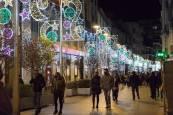 Encendido de la iluminación navideña en Tudela