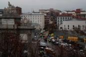 Una potente explosión derrumba un edificio en el centro de Madrid