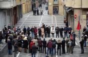 Fotos de la colocación de placas en Pamplona en recuerdo a víctimas de ETA