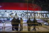 El Sadar muestra su nueva iluminación en el Osasuna-Barcelona