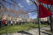 Placas en honor a víctimas del terrorismo asesinadas en Pamplona