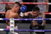 Fotos del combato de boxeo por el título Superwélter de España
