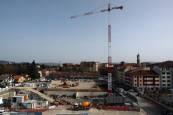 Fotos de las obras en el solar de Salesianos, en Pamplona