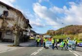 Fotos de las protestas en Navarra en varias localidades de la N-121-A