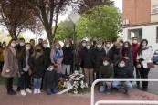 Colocación de placas de en memoria de asesinados por ETA