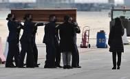 Imágenes de la llegada de los cuerpos de David Beriáin, Roberto Fraile y Rory Young a España