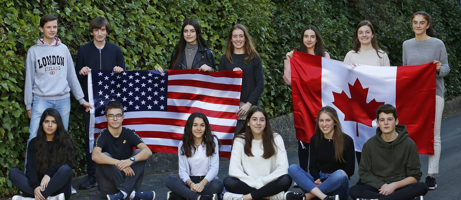 Los estudiantes navarros que viajarán el próximo curso a América gracias a las becas Fundación Amancio Ortega se reunieron por primera vez para el reportaje en Diario de Navarra.