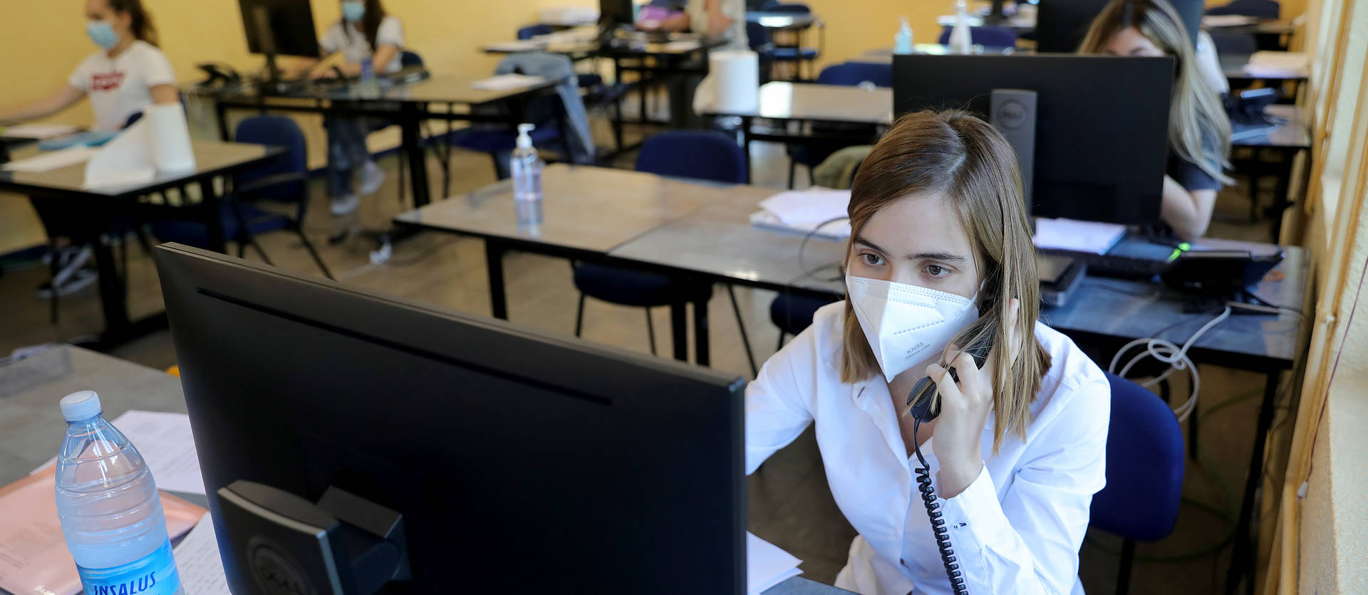 Foto del equipo está centralizado en la Escuela de Seguridad de Beriáin, desde donde también se atiende el teléfono de consultas 948290290.