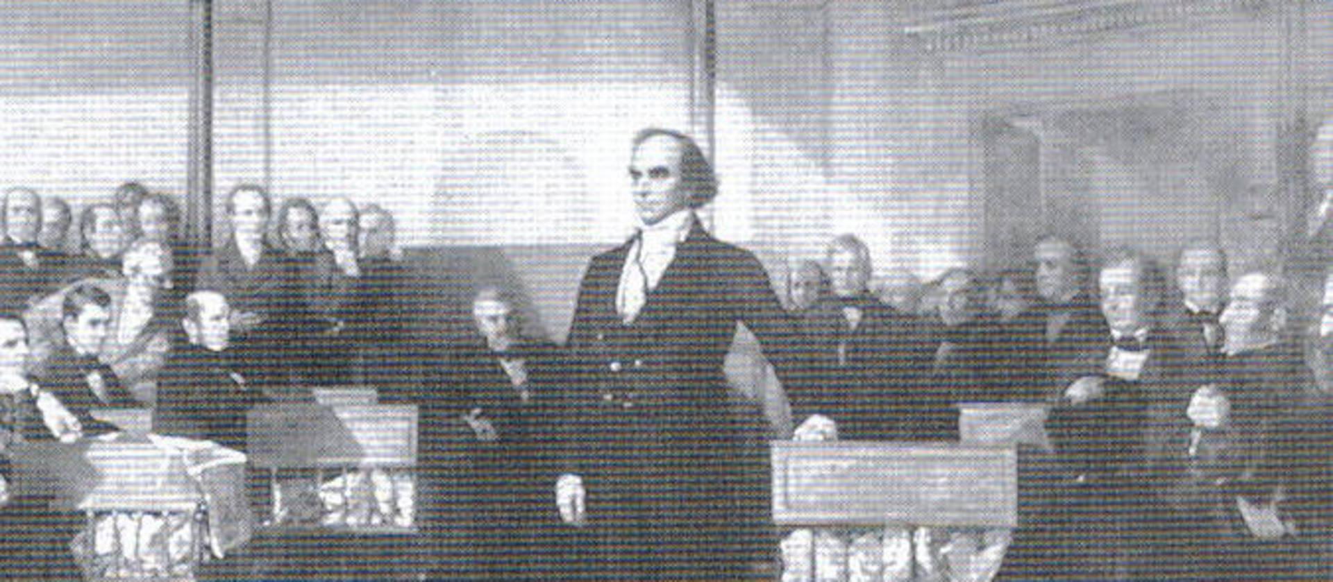 Van Buren contra el póker de candidatos del Partido Whig (1836)
