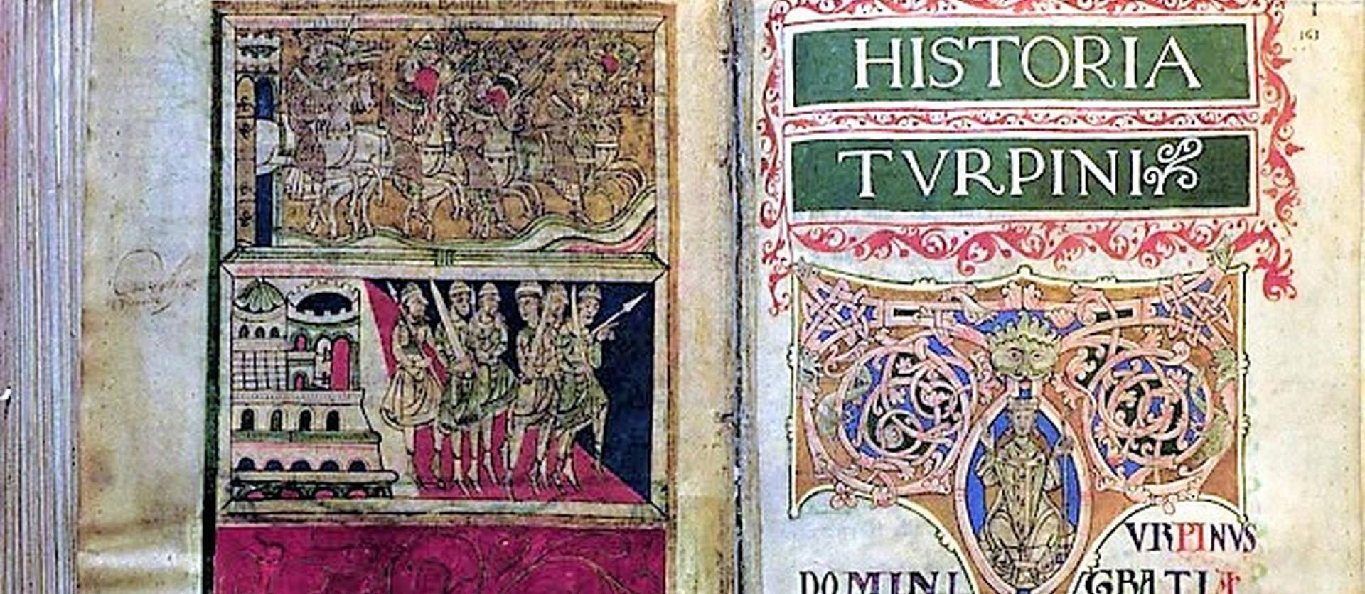 El Libro IV del Codex Calixtino, la Historia Karoli Magni et Rotholandi, Historia Turpini, del siglo XII.