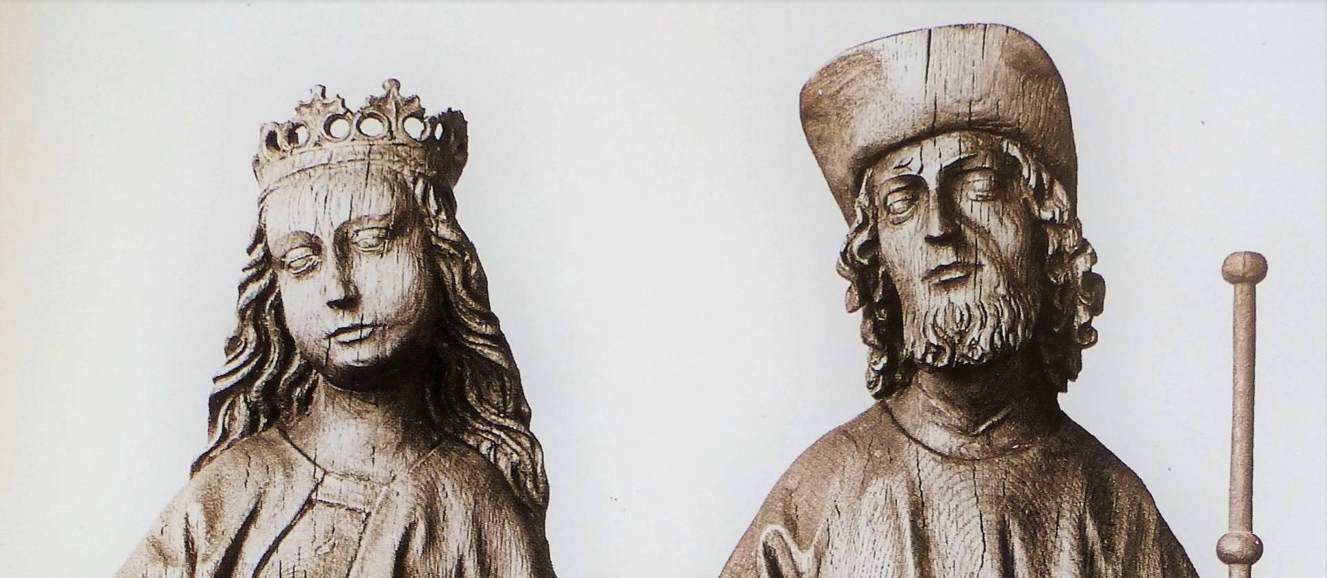 Imágenes de Santa Brígida y Santiago. Siglo XVI.