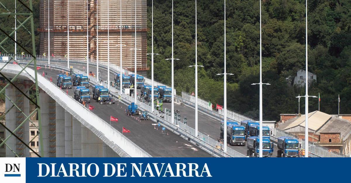 El nuevo puente de Génova se inaugura dos años después del derrumbe
