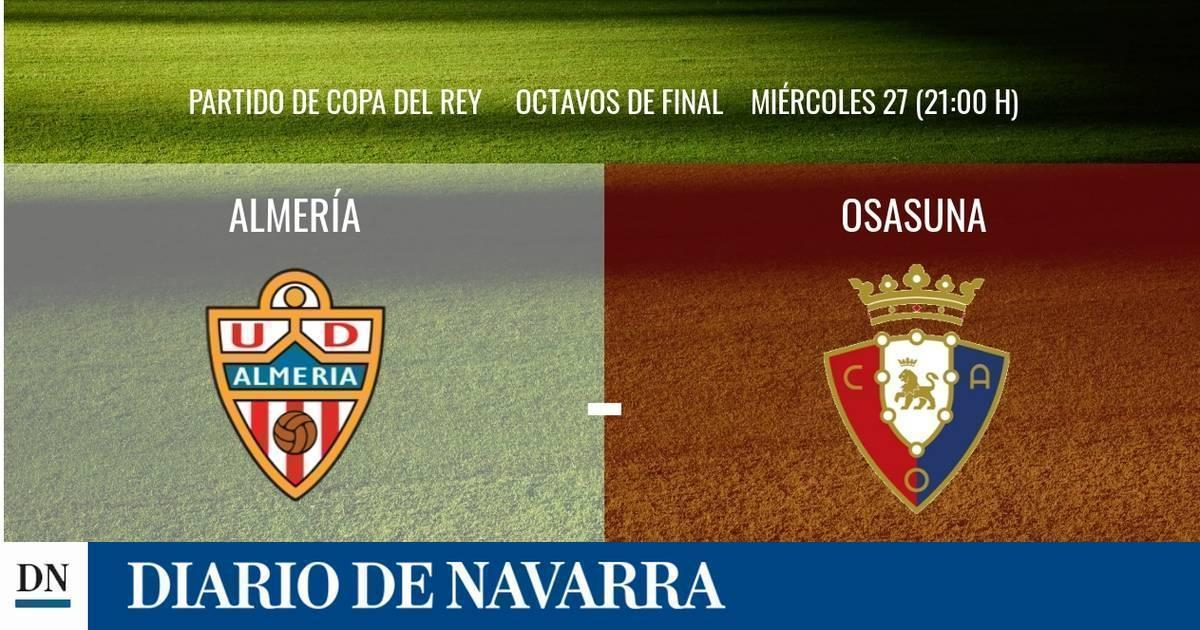Almería-Osasuna en directo: sigue la narración minuto a minuto