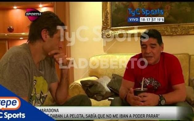 """Maradona: """"Hubiese sido mejor jugador sin las drogas"""""""